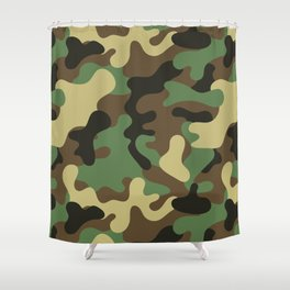 Classic Camouflage Pattern Shower Curtain