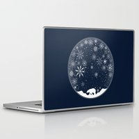 globe Laptop & iPad Skins featuring Snow Globe by Tobe Fonseca