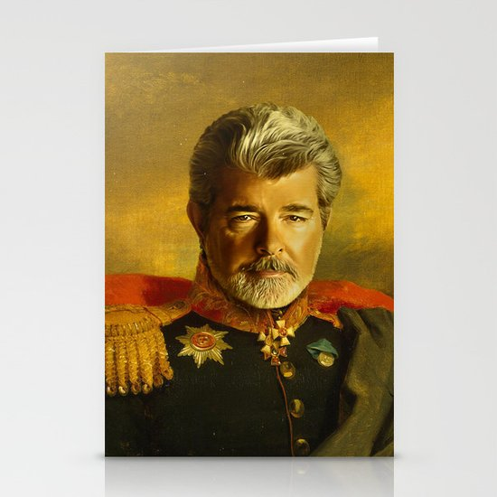 George Lucas - replaceface Stationery Cards
