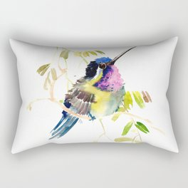 Little bird children illustration hummingbird Rectangular Pillow