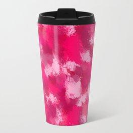 Cubist Valentines Pink Pattern Travel Mug