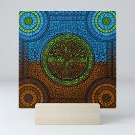 Yggdrasil- Tree of life Dot Art #2 Mini Art Print