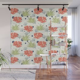 Succulent Pattern. no1 Wall Mural