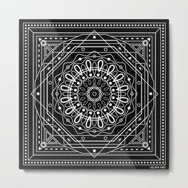 MandalaBandana Metal Print