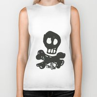 all time low Biker Tanks featuring All Time Low Skull and Cross Bones by Kelsey