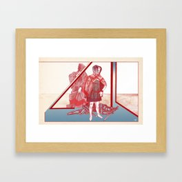 A Story About A Girl Framed Art Print