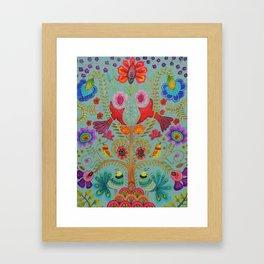 kalamkari Framed Art Print