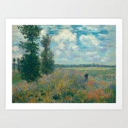 Poppy Fields near Argenteuil by Claude Monet Art Print