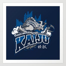 Pacific Breach Kaiju Art Print