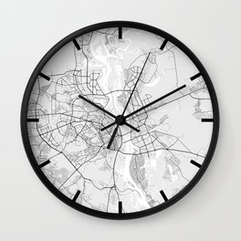 Kyiv City Map of Ukraine - Light Wall Clock