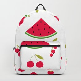 Pattern watermelon cherry raspberry currant Backpack