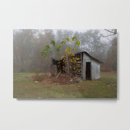 Misty Smokehouse Metal Print