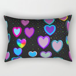 Confetti Hearts Rectangular Pillow