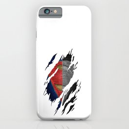 Man of Steel Ripped Symbol iPhone Case