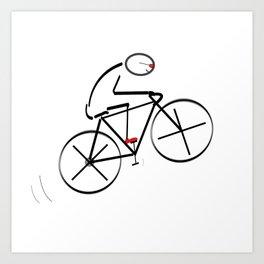 Stylized Bicyclist Art Print