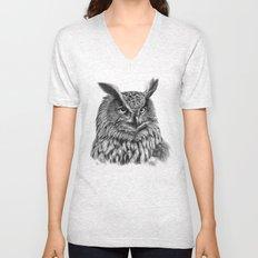 Eurasian Eagle Owl Unisex V-Neck