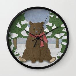 This winter I won't hibernate Wall Clock