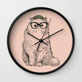 Hipster Persian Cat Wall Clock