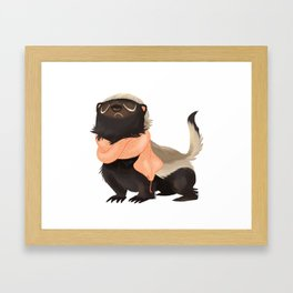 Honey Badger Don't Care Framed Art Print
