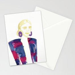 Meg's extravagant cardigan Stationery Cards
