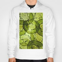 kiwi Hoodies featuring kiwi by Claudia Araujo