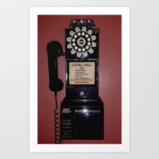 Public Telephone - case Art Print