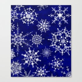 Snowflakes Floating through the Sky Canvas Print