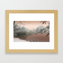 Mill Pond Snow, Allentown NJ by Ericka O'Rourke Framed Art Print