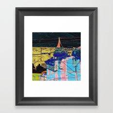 toronto collage - night Framed Art Print