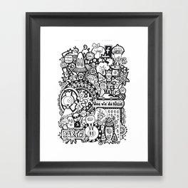 Une vie de dingue Framed Art Print