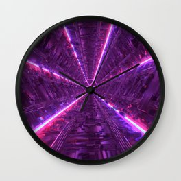 Purple Tunnel Wall Clock