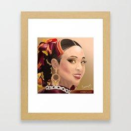 Women portrait Framed Art Print
