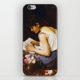 Alexej Alexejewitsch Charlamoff  -  A Girl Reading iPhone Skin