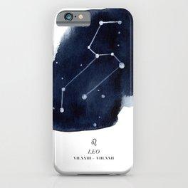 Zodiac Star Constellation - Leo iPhone Case