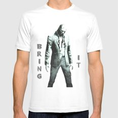 Bring It White Mens Fitted Tee MEDIUM
