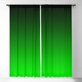Black Lime Green Neon Nights Ombre Blackout Curtain