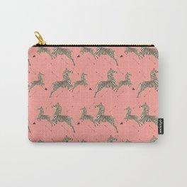 Royal Tenenbaums Zebra Wallpaper - Pink Carry-All Pouch