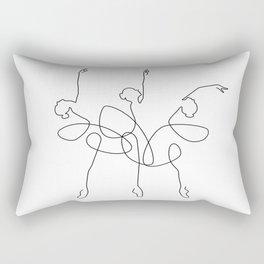 Ballet x 3 Rectangular Pillow