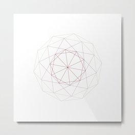 #182 A Schläfli-Hess polychoron – Geometry Daily Metal Print