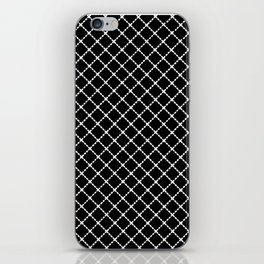 Dotted Grid 45 Black iPhone Skin