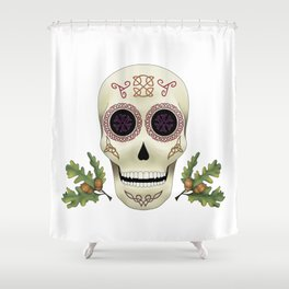 Knotwork Skull Shower Curtain