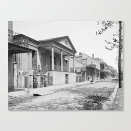 Chartres Street, Vieux Carre, New Orleans, Louisiana 1906 Canvas Print