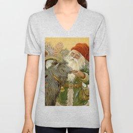 """""""The Sled Goat"""" by Jenny Nystrom Unisex V-Neck"""