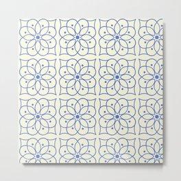 Fashion Flower Pattern Art Print Metal Print