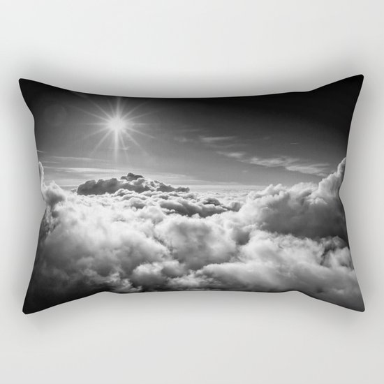 Clouds Black & White Rectangular Pillow