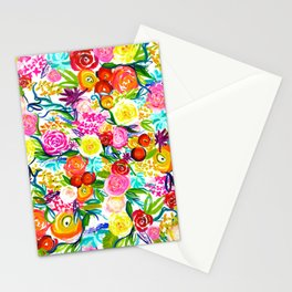 Neon Summer Floral // Small print Stationery Cards