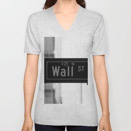 Wall St. Minimal - NYC Unisex V-Neck