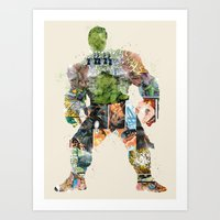 superheros Art Prints featuring dont make him angry by bri.buckley