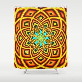 Spiral Rose Pattern D 2/4 Shower Curtain