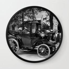 Vintage Automobile carrying Senator George Wetmore - 1906 Wall Clock